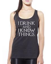 Me Drink y sé que las cosas-tengo LANNISTER TARGARYEN para Mujer Chaleco Sin Mangas