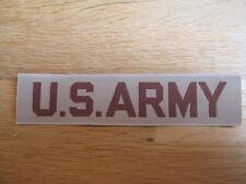 "ORIGINAL Parche ""US Army"" bruststreifen pecho Coyote / Arena EE.UU."
