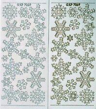 Transparent Embossed Snowflakes PEEL OFF STICKERS Snowflake Small Medium Large