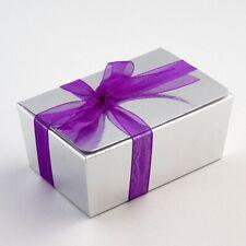 Luxury Silver Silk Ballotin Chocolate Truffle Gift Favour Boxes  - 2 sizes