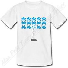 T-shirt Enfant Space Invaders Bleu
