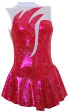 Skating Dress -Cherry Hologram / White Mesh No sleeves ALL SIZES
