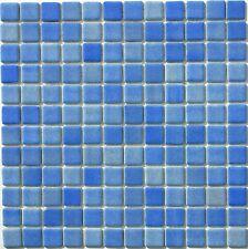 4 Colores Azulejo de mosaico de vidrio reciclado Efecto Niebla Hojas