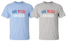 """God Bless America"" T-Shirt faith country christian bible american flag military"