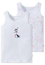 Schiesser filles maillots de corps CIRQUE LOT 2 104 116 128 140 Sous-vêtements