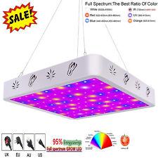 1200W 108 LED Grow Light 6 Band 100% Full Spectrum Veg Bloom Flower Switch Lamp