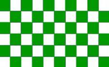 GREEN & WHITE CHEQUERED FLAG sport team 5x3 checkered