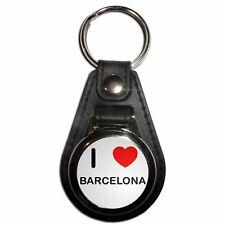 I Love Barcelona - Plastic Medallion Key Ring Colour Choice New