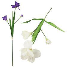 3 Head Large Lisianthus Spray - Artificial Silk Flowers Fake Stem