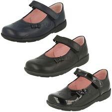 Startrite paper girl's black smart school shoes