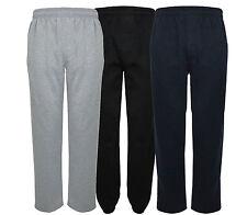 Pile Jogging JOGGING UNISEX Pantaloni Tuta ( Open Hem ) qualità top pantaloni
