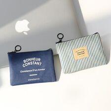 Mini Canvas Purse Unisex Coin Key Pouch Purse Card Bag Small Zipper HolderWallet