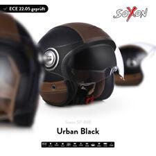 SOXON SP-888 URBAN B. Jet-Helm Motorrad-Helm Vespa Sonnen-Visier ECE XS S M L XL