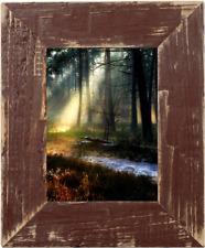 Bilderrahmen aus echtem Alt-Holz im Landhaus-Stil vintage, rustikal Braun