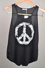 Girls Tank Top Cotton Blouse Pop Art Summer Beach Singlet Peace Print