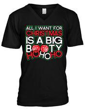 All I Want For Christmas Is A Big Booty Ho Ho Ho Pun Swag Mens V-neck T-shirt