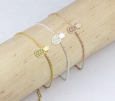 Bracelet Fin Chaîne Mini Ananas Acier stainless Fun