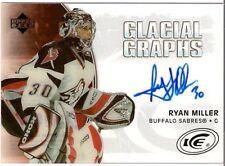 RYAN MILLER 2005-06 UPPER DECK GLACIAL GRAPHS AUTO ~$$