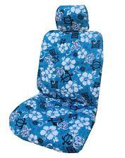 Blue Aloha Honu Separate Headrest Hawaiian Car Seat Cover - Set of 2