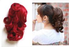 Postiche Tresse Extensions cheveux Pince & Clips léger ondulé 25-27cm long Neuf