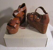 NIB Zodiac USA Cruise Womens Platform Sandals 8.5 Saddle Tan MSRP$60