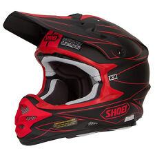 Shoei Vfx Motocross Mx Enduro Casco Bicicleta HECTIC tc-1 NEGRO MATE / Rojo