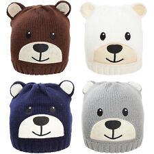 Cappello bambino bambina unisex cappellino tricot ORSO berretto orecchie  YF-2032 db6b18633ef8