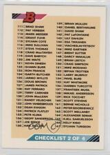 1992-93 Bowman #221 Checklist Hockey Card