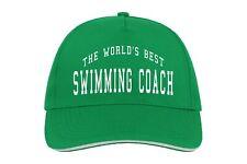 World's Best Swimming Coach Baseball Hat Cap Gift Sport Swim Pool Athlete Cool