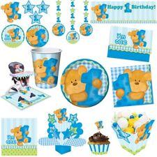 1. Geburtstag Junge Party Teddy Bär Kindergeburtstag Set Kinderparty Deko blau