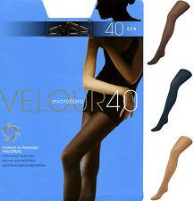 COLLANT velato calza OMSA velour 40 den denari microfibra blu marrone beige