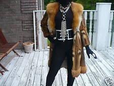 Designer Unique Dworkins Full length spotted & Red fox Fur coat jacket XS-S 0-4