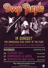 DEEP PURPLE - 2011 TOUR FLYER - GENUINE RARE LIVE CONCERT MUSIC PROMO