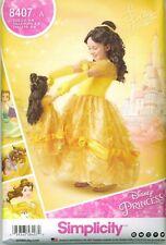Simplicity 8407 Disney Belle Beauty Beast Princess Gown Sewing Pattern UNCUT NEW
