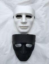 Full Face Plastic Plain Mask Costume Party Dance Opera Hip Hop