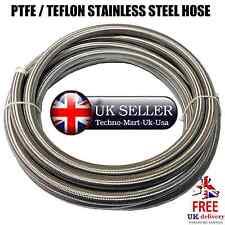 PTFE/Teflon Acero Inoxidable Trenzado Manguera de combustible/aceite @UK