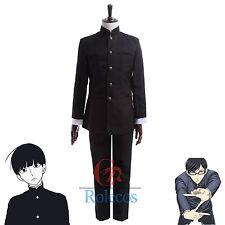 Mob Psycho 100 Kageyama Shigeo Sakamoto Black Universal Uniform Cosplay Costume
