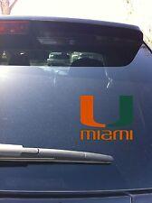 02-07-01 Miami Hurricanes Decal Vinyl Car Window ACC Coastal Division