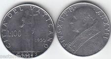 V17,  VATICANO VATICAN CITY  PIO XII  100  LIRE  1955  XVII ,  KM# 55  FDC /UNC