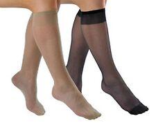 Pack of 3 Comfort Top Socks Knee High Wear Under Trousers Mink Black One Size