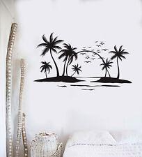 Vinyl Wall Decal Sun Palms Beach Style Ocean Islands Art Stickers Mural (ig5014)