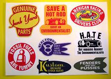 Hot Rod Retro Vintage Pegatina Calcomanía Kit Ford Chevy