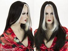 Glamorous 23in Long Straight Skin Top Wigs Finest Modacrylic Kanekalon Fiber