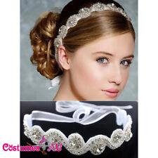 Deco Vintage Headband 20s Flapper Bride Headpiece Gatsby Downton Boho Goddess