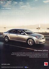 2007 Saturn Aura - Never - Classic Vintage Advertisement Ad D62