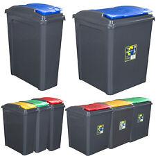 Mülleimer 50/25L Abfalleimer Deckel Eimer Papierkorb Abfallsammler Recycling