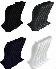 Pack 1x 2x 3x 6x Womens Ladies Boys Girls Knee High Cotton Socks School Uniform