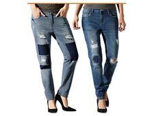 Women Destroyed Ripped Distressed Slim Denim Pants Boyfriend Jeans Trousers