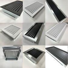 Kamin Luftgitter aus Stahl Ofen Lüftungsgitter Ventilation Belüftung in 3 Farben