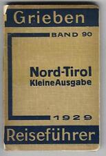 Grieben NORD-TIROL und VORARLBERG  1929